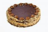 Homemade chocolate hazelnut cake — Stock Photo
