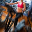 Woman on stepper in gym — Stock Photo #69829491