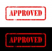 Approved stamp sign — Stock Photo