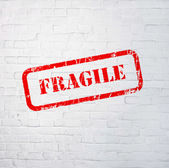 Fragile stamp — Stock Photo