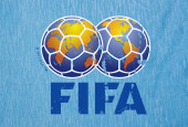 FIFA logo printed — Stock Photo