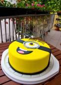 Minion birthday cake — Stock Photo