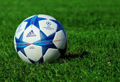 Champions league ball — Stock Photo