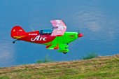 Pitts airplane performing — Stock Photo