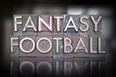 Stampa tipografica di calcio fantasia — Foto Stock
