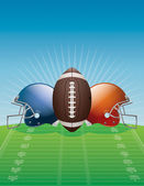 American Football Background Illustration — Stock Vector