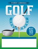 Golf Tournament Illustration — Stock Vector