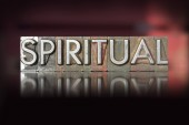 Spiritual Letterpress — Stock Photo