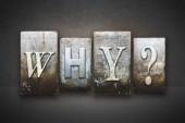 Why? Letterpress — Stock Photo