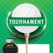 Golf Tournament Template Illustration — Stock Vector #53588147