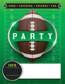 American Football Party Template Illustration — Stock Vector