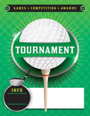Golf Tournament Template Illustration — Stock Vector