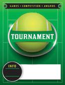 Illustrazione modello torneo di tennis — Vettoriale Stock