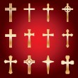 Set of Gold Crosses — Stock Vector #57911709