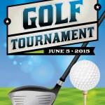 Golf Tournament Flyer Illustration — Stock Vector #60286795