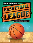 Basketball League Flyer Illustration — Stock Vector