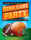 American Football Bowl Game Party Illustration — Stock Vector