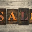 Sale Concept Wooden Letterpress Type — Stock Photo #62111927