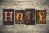 Holy Concept Wooden Letterpress Type — Stock Photo
