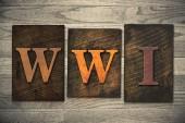 WWI Concept Wooden Letterpress Type — Stock Photo