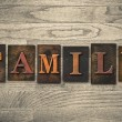 Family Concept Wooden Letterpress Type — Stock Photo #62281673