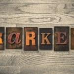 Market Concept Wooden Letterpress Type — Stock Photo #62282185