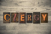Clergy Concept Wooden Letterpress Type — Stock Photo