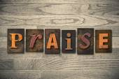 Praise Concept Wooden Letterpress Type — Stock Photo