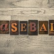 Baseball Wooden Letterpress Concept — Stock Photo #62636759