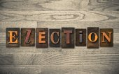 Election Wooden Letterpress Concept — Stock fotografie