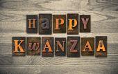 Happy Kwanzaa Wooden Letterpress Concept — Stock Photo