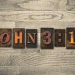 John 3:16 Wooden Letterpress Concept — ストック写真 #63114823