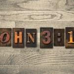 John 3:16 Wooden Letterpress Concept — Foto de Stock   #63114823