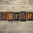 Library Wooden Letterpress Concept — Stock Photo #63114829