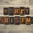 Merry Christmas Wooden Letterpress Concept — Stock Photo #63114853