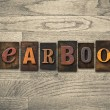 Yearbook Wooden Letterpress Concept — Stock Photo #63114993