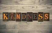 Kindness Wooden Letterpress Concept — Stock Photo