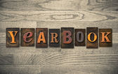 Yearbook Wooden Letterpress Concept — Stock Photo