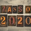 Class of 2020 Wooden Letterpress Type Concept — Stock Photo #63984933