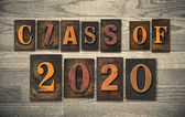 Class of 2020 Wooden Letterpress Type Concept — Stock Photo