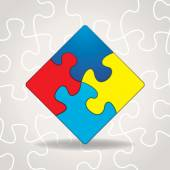 Autism Awareness Puzzle Pieces Illustration — Stock Vector