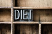 Diet Letterpress Type in Drawer — Stock Photo