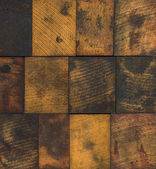 Stained Wooden Printing Blocks — Stok fotoğraf