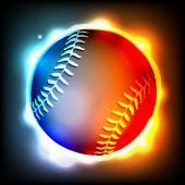 Glowing Baseball Illustration — Stock Vector