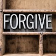 Forgive Vintage Letterpress Type in Drawer — Stock Photo #65478535