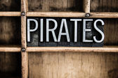 Pirates Concept Metal Letterpress Word in Drawer — Fotografia Stock