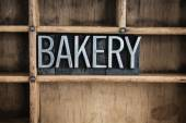Bakery Concept Metal Letterpress Word in Drawer — Stock Photo