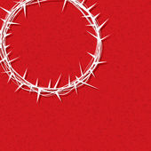 Jesus Crown of Thorns Illustration — Stock Vector
