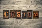 Custom Wooden Letterpress Theme — Stock Photo