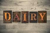 Dairy Wooden Letterpress Theme — Stock Photo